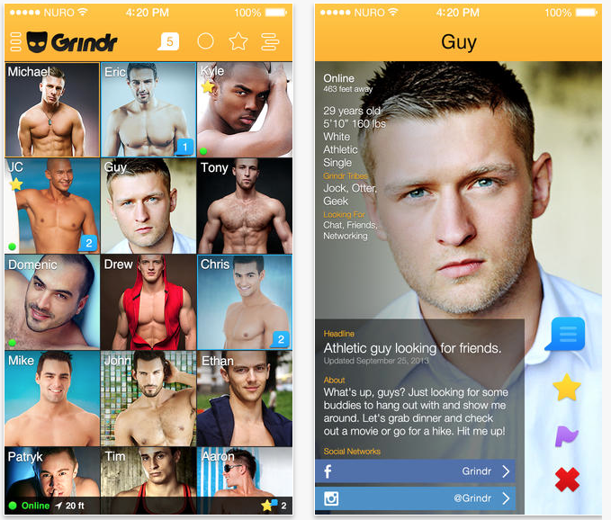 how does the grindr app work